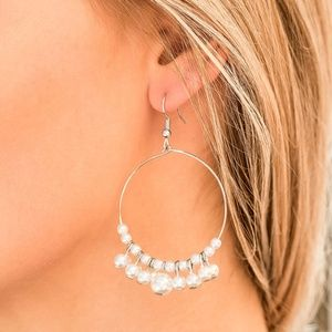 The PEARL-fectionist White Pearl Hoop Earrings